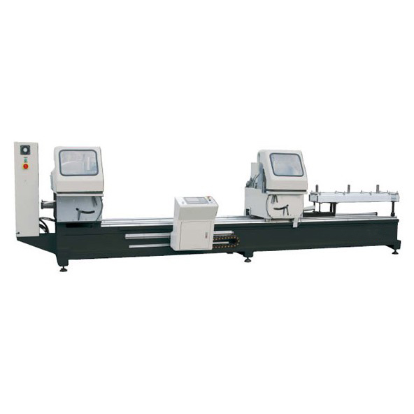 LJZ2-CNC-500×4200A Double-head nc cutting saw for PVC door & window